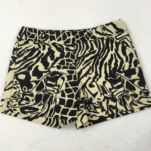 Animal Print Cuffed Casual Shorts Size 8